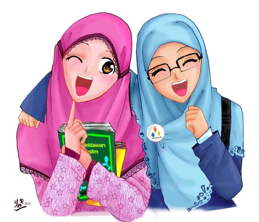 46 Koleksi Gambar Animasi Kartun Wanita Hijab Gratis Terbaru